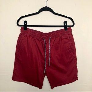 PacSun | Pull On Drawstring Jogger Shorts Burgundy